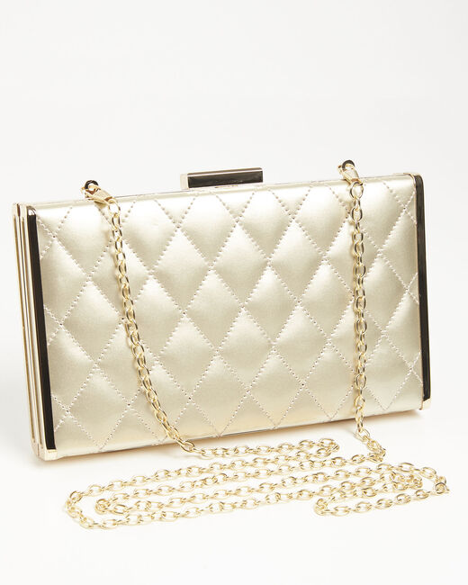 Ida golden quilted clutch bag (1) - 1-2-3