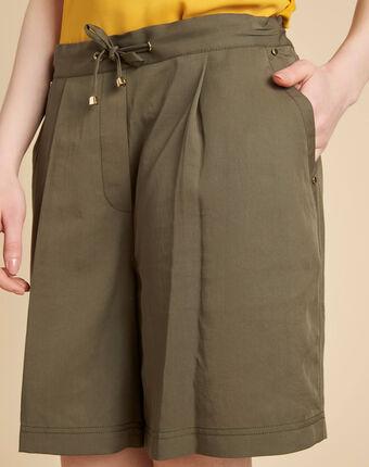 Khakifarbene shorts mit bindeband janel kaki.