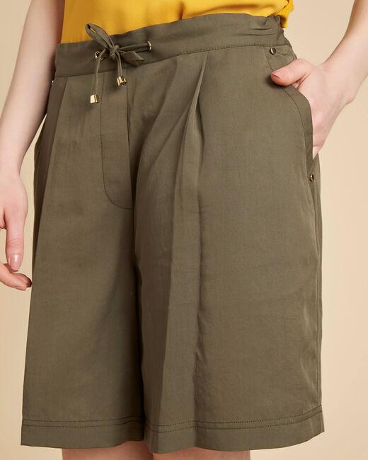 Janel khaki shorts with tie belt (1) - 1-2-3