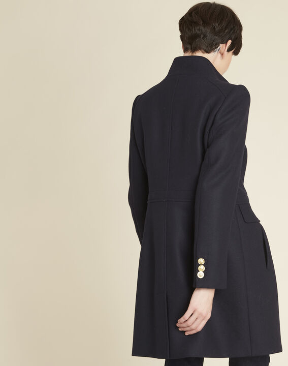 Jasmin double-breasted navy blue coat (4) - 1-2-3