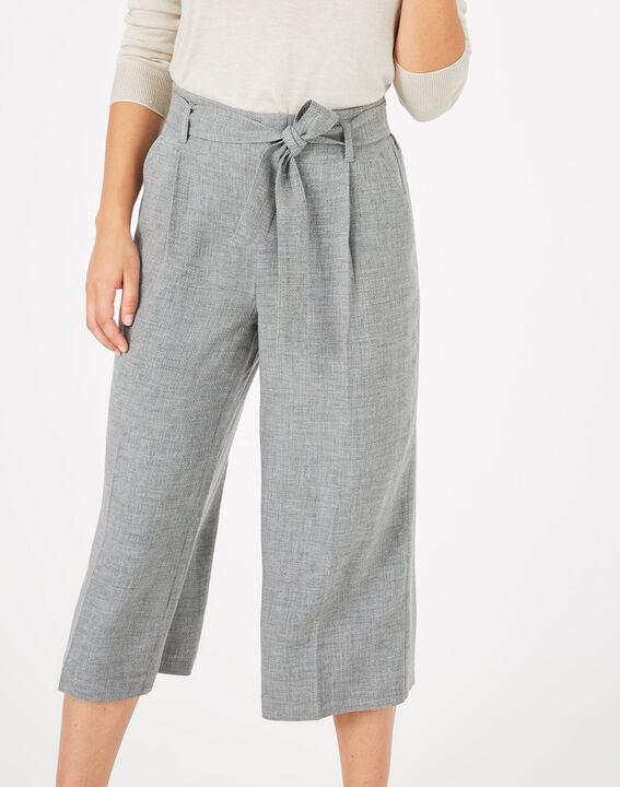 Pantalon gris cropped Kris (2) - 1-2-3