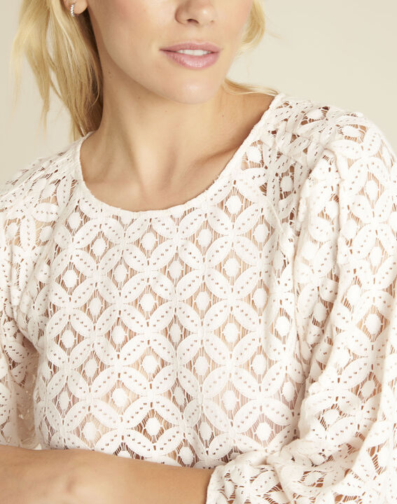 Nude blouse van kant Caoula (3) - 37653