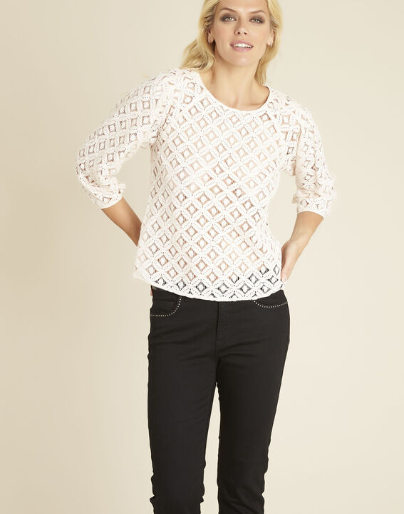 Caoula nude blouse in lace PhotoZ | 1-2-3