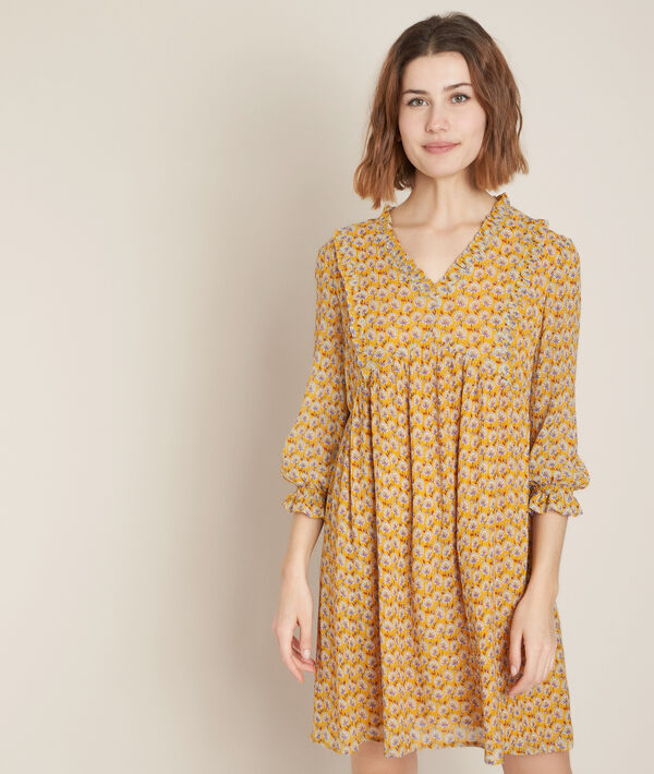 Robe imprimée Colombe bis PhotoZ | 1-2-3