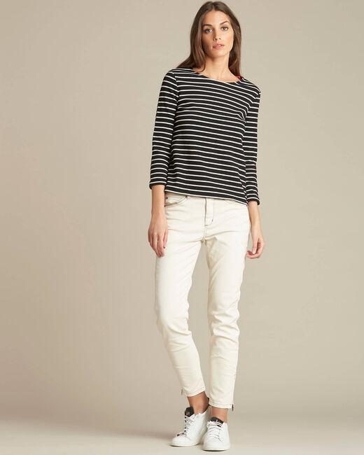 Escadre 3/4 sleeve black striped T-Shirt (1) - 1-2-3
