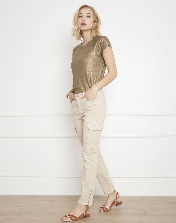 Pantalon crème cargo Carolina (1) - Maison 123