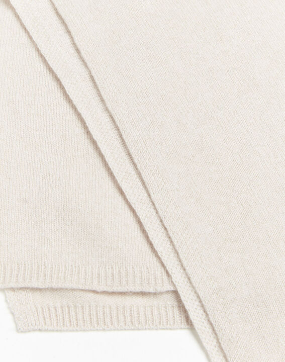 Echarpe rose pâle en cachemire irisé Felicia (2) - 1-2-3