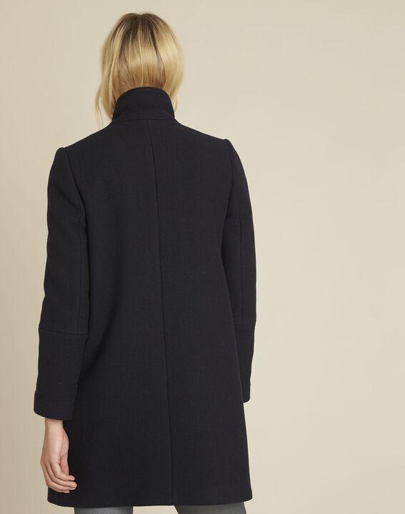 Manteau marine croisé en laine Eclat (4) - 1-2-3