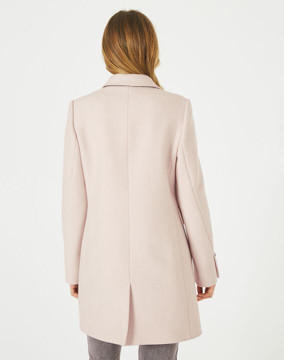 Manteau poudre en laine mélangée Plume (4) - 1-2-3