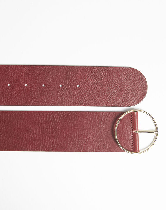 Quettie wide belt in red leather (3) - 1-2-3