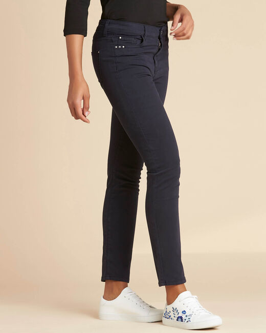 Marineblaue Slim-Fit-Jeans normale Leibhöhe Vendome (2) - 1-2-3