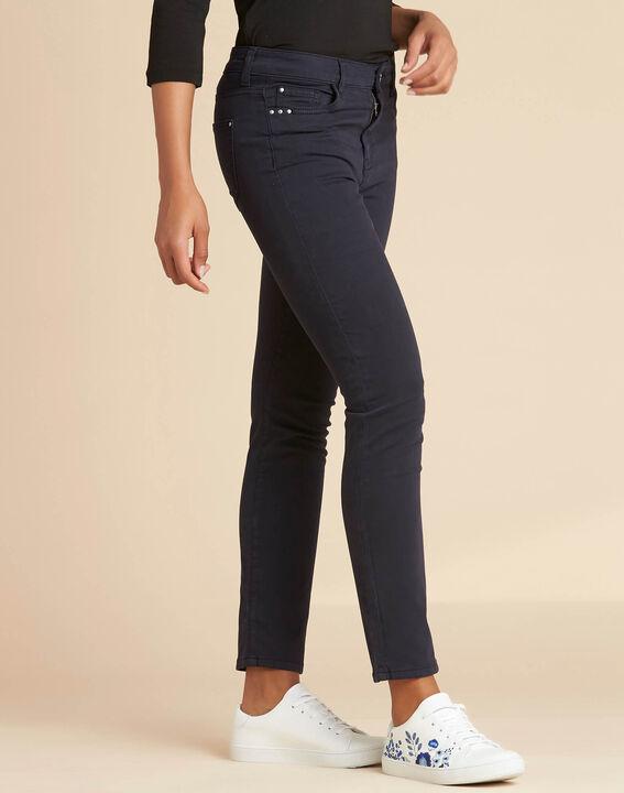 Vendôme slim-cut standard size navy blue jeans (3) - 1-2-3