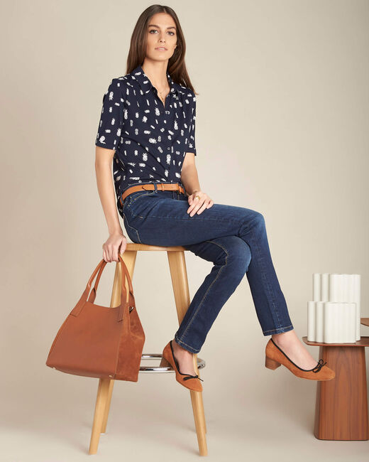 Vivienne dark indigo straight-cut jeans (2) - 1-2-3