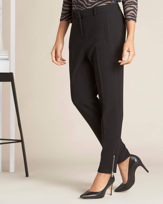 Valero black fitted trousers with zips (2) - 1-2-3