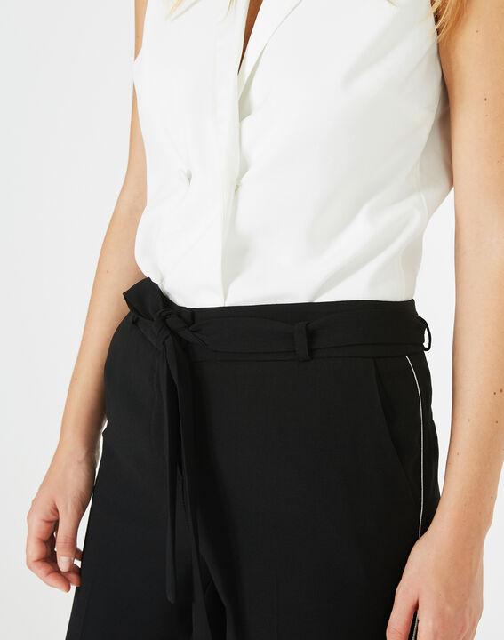 Pantalon noir en crêpe Karoline (3) - 1-2-3