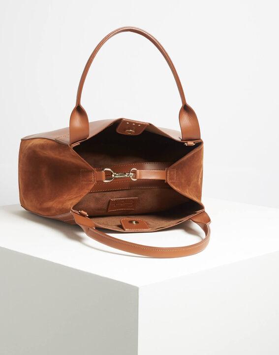 Doddy dual-fabric camel bag (4) - 1-2-3