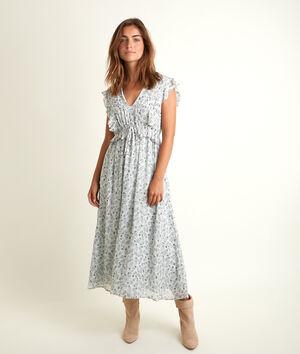 Lange jurk met print Nora