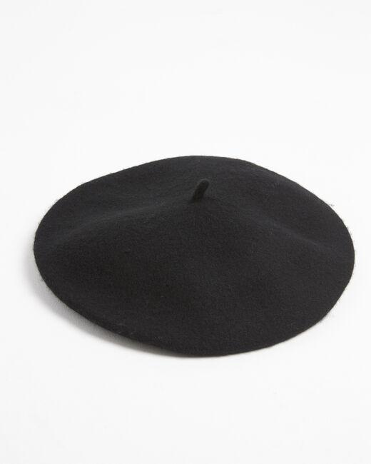 Beret noir à studs en laine Ulali (2) - 1-2-3