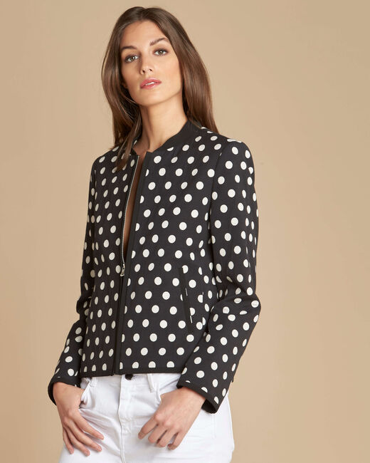 Charlotte polka dot vest with contrasting trim (2) - 1-2-3