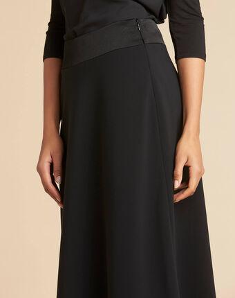 Frost long black pencil skirt black.