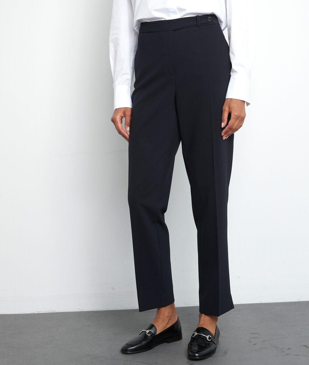 Marineblauwe geklede broek met rechte pijpen Lara PhotoZ   1-2-3