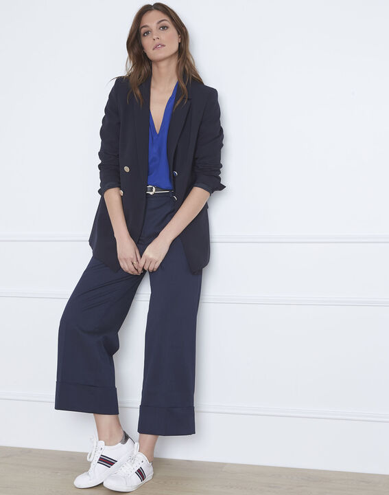 Pantalon bleu large à plis Gabin (2) - Maison 123