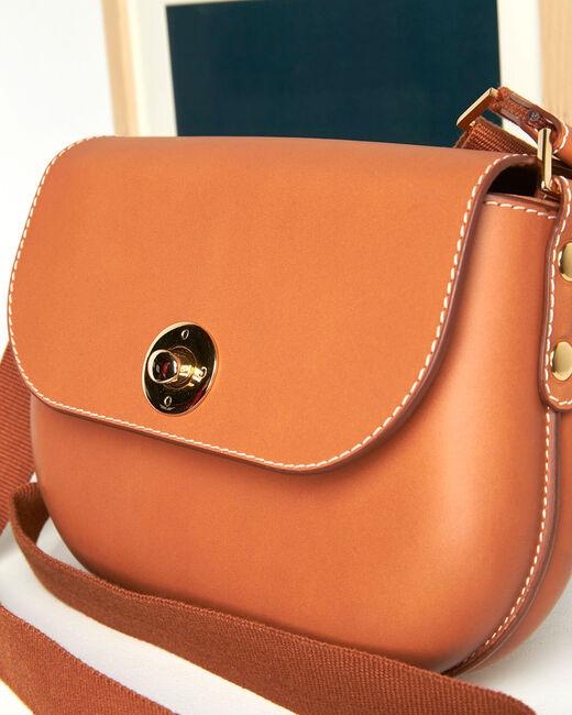 Dao camel leather shoulder bag (2) - 1-2-3
