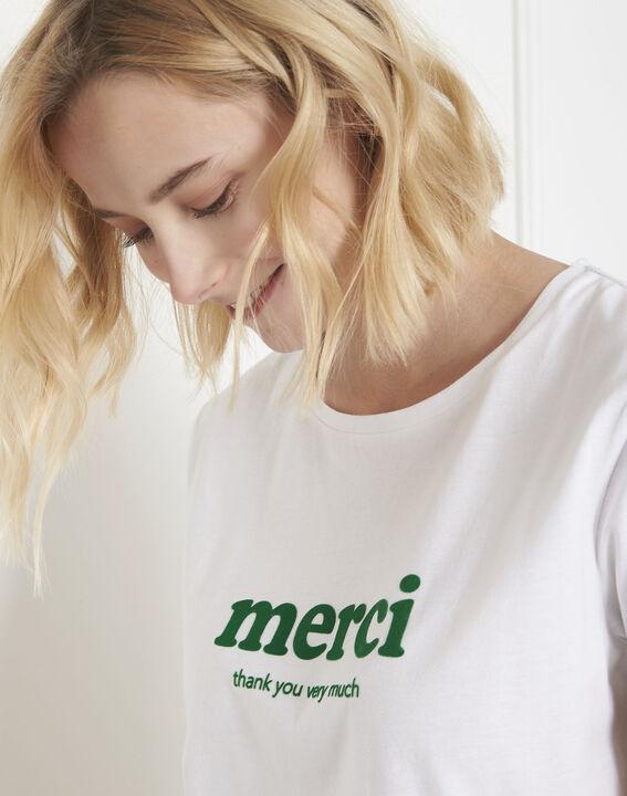 Tee-shirt blanc message merci Polite (3) - Maison 123