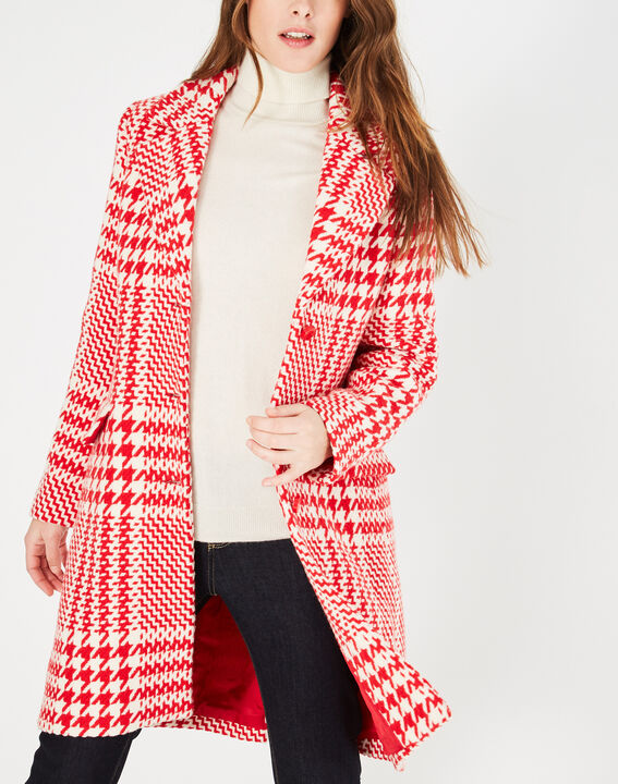 Jude red check coat in jacquard (4) - 1-2-3