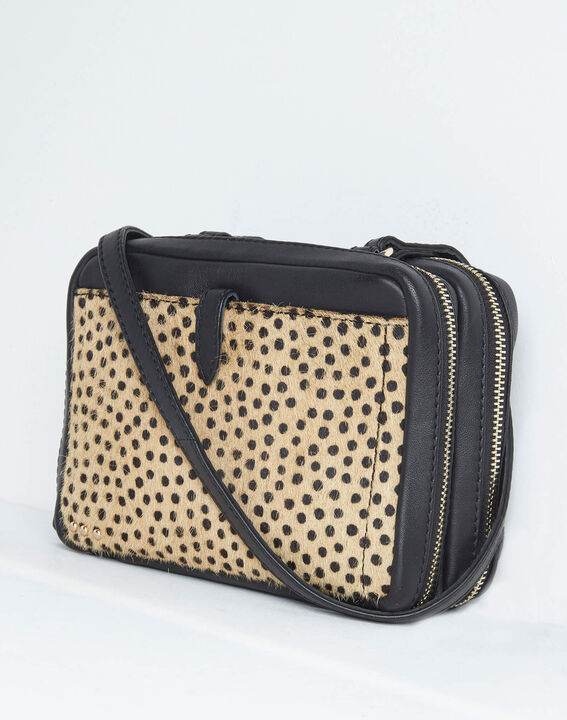 Dolly animal print shoulder bag with golden zip (3) - 1-2-3