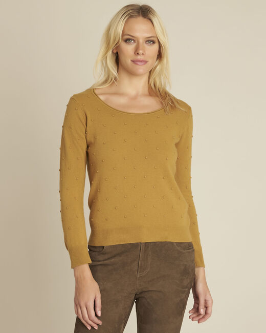 Beebop yellow crew neck wool mix pullover (2) - 1-2-3