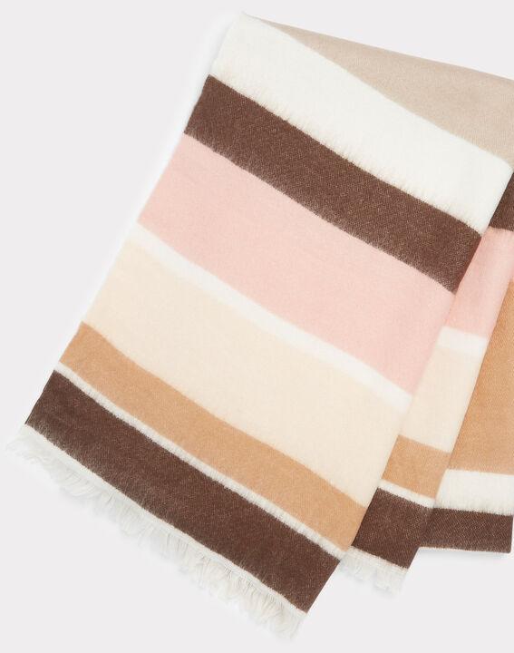 Ema pale pink striped scarf (2) - 1-2-3
