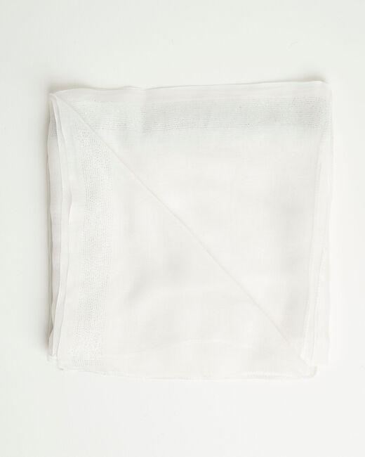 Ecrufarbenes glänzendes Halstuch aus Viskose Amber (2) - 1-2-3
