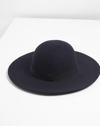 Uriel navy blue wool hat navy.