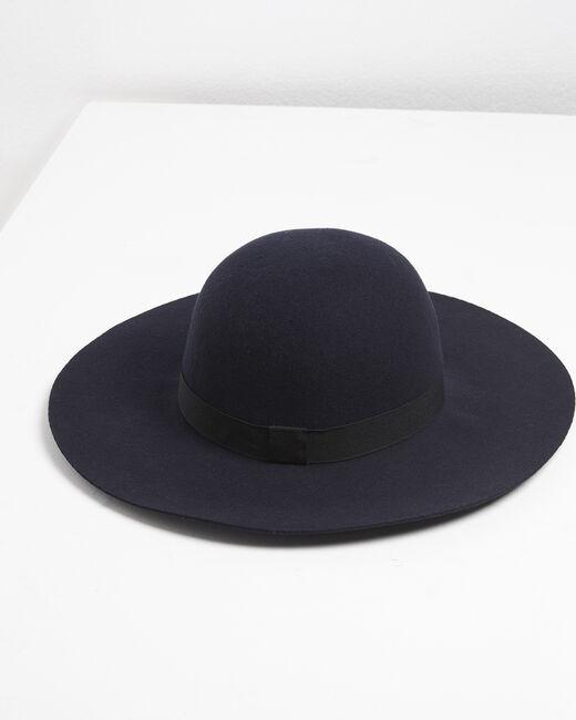 Chapeau en laine bleu marine Uriel (2) - 1-2-3