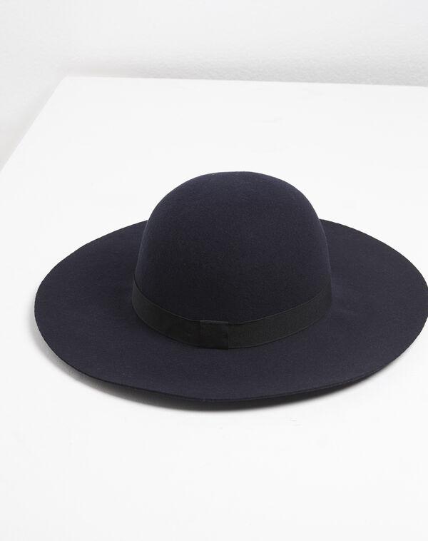 Chapeau en laine bleu marine Uriel (1) - 1-2-3