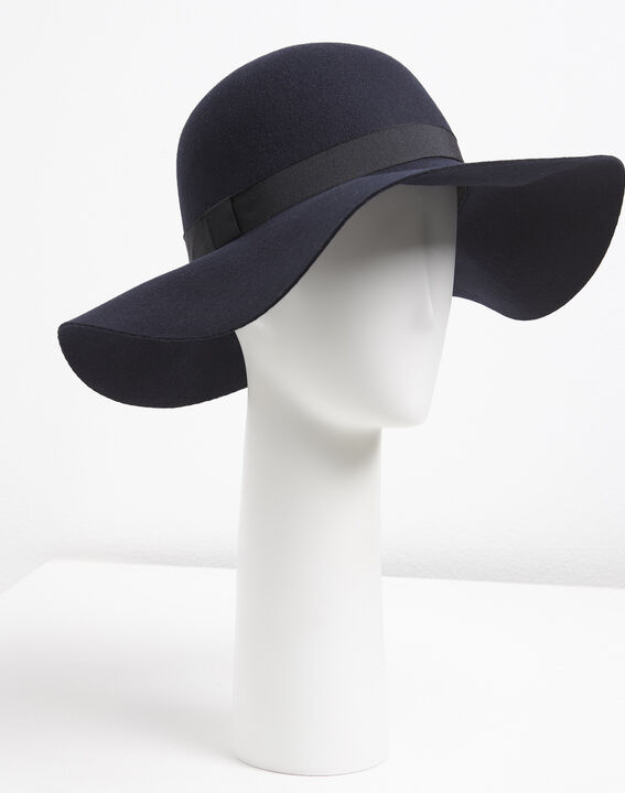 Uriel navy blue wool hat (1) - 1-2-3