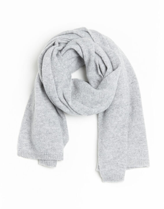 Felicia grey cashmere scarf (1) - 1-2-3