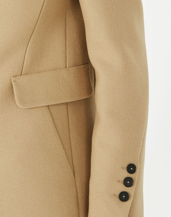 Plume belted camel wool mix coat (4) - 1-2-3