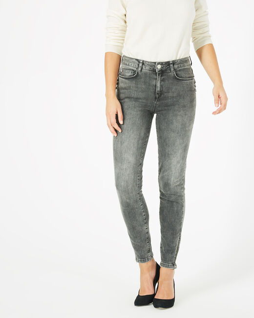 Nolan 7/8 grey jeans with laces (1) - 1-2-3