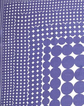 Carré de soie imprimé géométrique bleu anae bleuet.