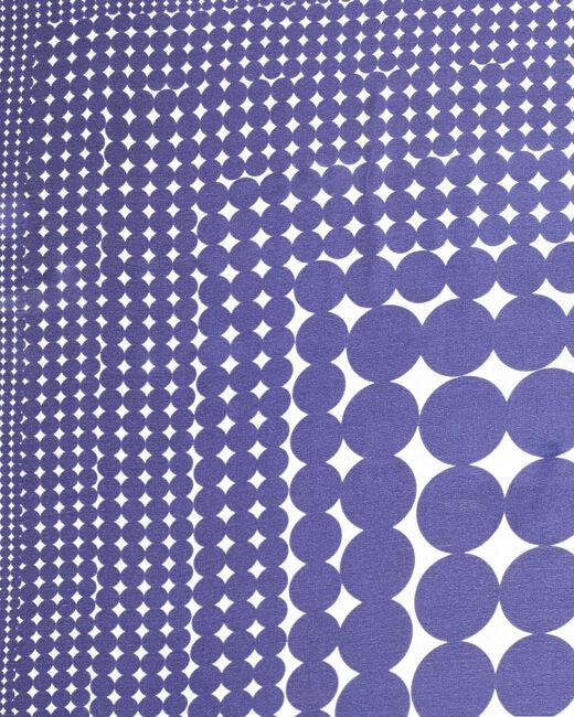 Carré de soie imprimé géométrique bleu Anae (2) - 1-2-3