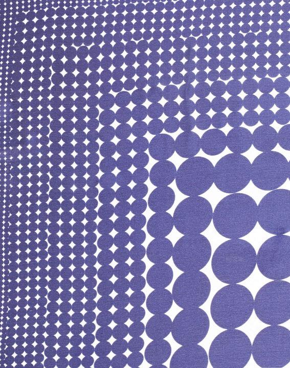 Carré de soie imprimé géométrique bleu Anae PhotoZ | 1-2-3