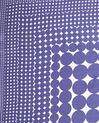 Carré de soie imprimé géométrique bleu Anae (1) - 1-2-3