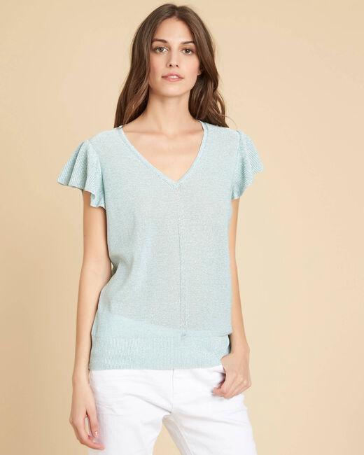 Naiade fine-knit almond shiny sweater (2) - 1-2-3