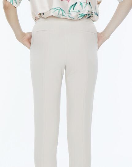 Lara beige tailored trousers (4) - 1-2-3