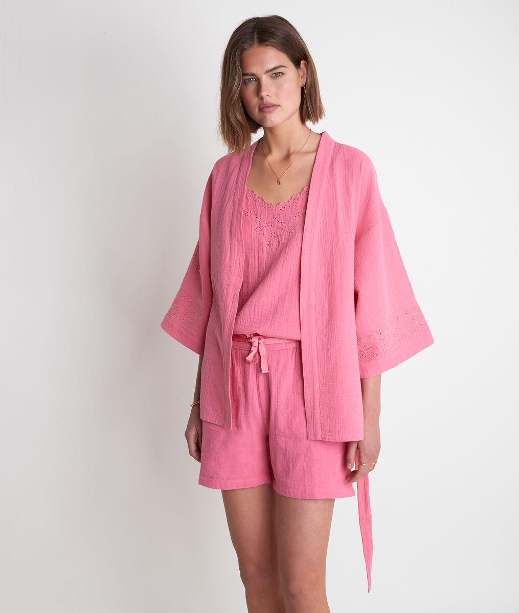Kimono en coton fraise Tibo PhotoZ   1-2-3