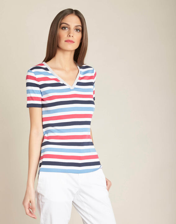 Embruns navy blue striped T-shirt (3) - 1-2-3