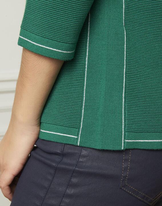 Pull vert détails butons et lurex Avocado (4) - Maison 123