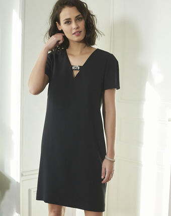 Noel jeweled black dress black.